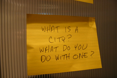 A sign from the Open City Workshop in Edmonton, AB says it all. (Image Credit: Mack Male (mastermaq) / Flickr)
