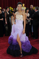 Zoe Saldana at the 82nd Annual Academy Awards