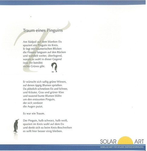 Traum eines Pinguin