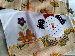 pano de prato (Dipano Ateli) Tags: de galinha pano patchwork prato cozinha jogos tecido aplicao apliqu dipano