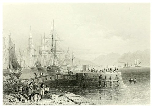 011-Port Glasgow-The ports, harbours, watering-places, and picturesque scenery of Great Britain 1840
