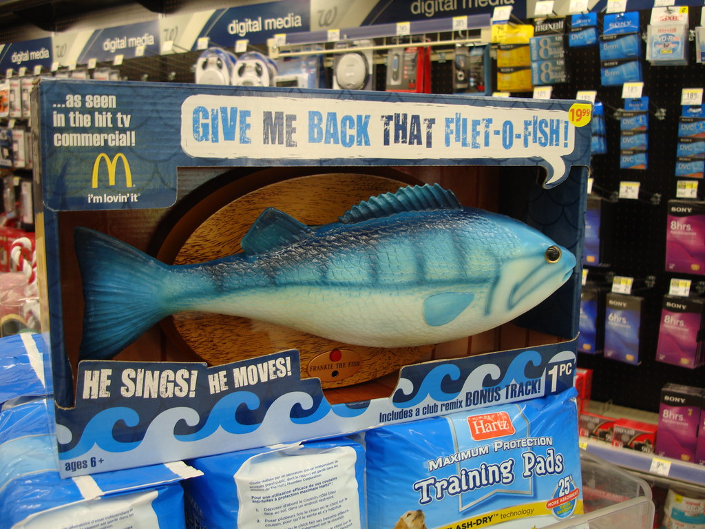 The world 39 s best photos of mcdonalds and singing flickr for Talking fish on wall