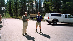 Ballpark Frank and Rick (in Kent) at the Grebe Lake parking area just before we left.
