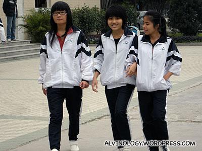 Random school girls