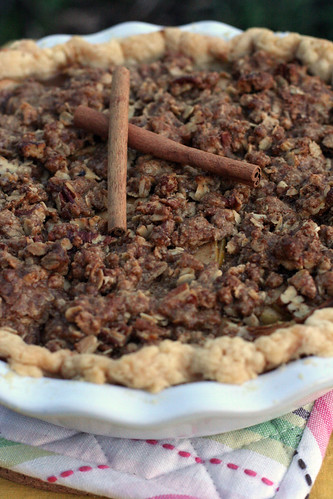 Apple Maple Pecan Crumb Pie, After