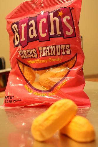 Brach's circus peanuts bag