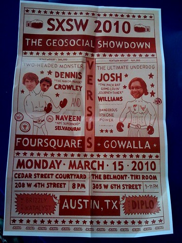 In AD 2010, GeoSocial War was beginning. All Your Location Are Belong To Us. @foursquare vs @gowalla 3/15 #sxsw