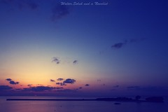 The sunset (waltersoluh) Tags: ocean blue sunset sea sky orange cloud nature landscape mywinners platinumphoto visiongroup theunforgettablepictures colorsofthesoul redmatrix yourwonderland magicunicornverybest adriënnesmagicalmoments 1001nightsmagiccity