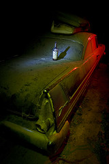 Seagram's Gerd (Lost America) Tags: lightpainting abandoned night plymouth 1957 junkyard fury nocturnes thebigm