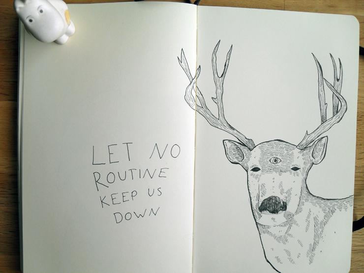 deer with words of wisdom
