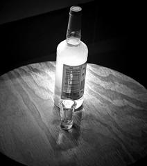 Protein 0g (twbphotos) Tags: blackwhite bottle shotglass protein terrybell 0g cornudas twbphotos