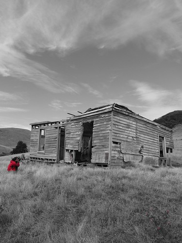 Abandoned Building, Otago Peninsula, New Zealand
