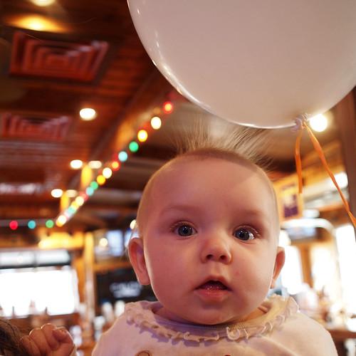 Baby Bella + Balloon = Static Fun