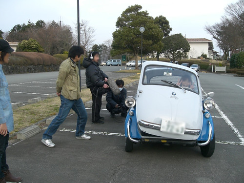 『のりものテレビ』イセッタ&メッサーシュミット撮影風景「2010.4.12」