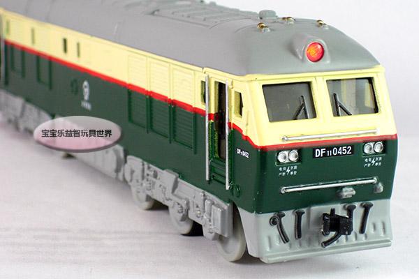 452火车头 京局京段绿 合金火车模型 玩具