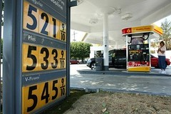 gasoline prices, San Mateo, CA 2008 (by: World Culture Pictorial)