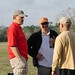 Larry Kruse and Jack Camp talk with Jan Baumgartner about disc golf.
