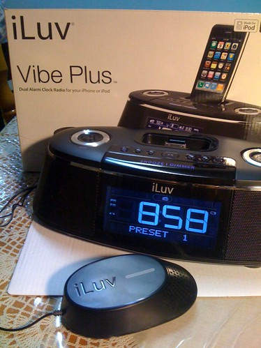 iLuv Vibe Plus Alarm Clock with Bed Shaker