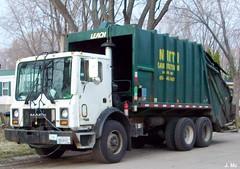 Nitti Sanitation Garbage Truck (TheTransitCamera) Tags: trash truck garbage rear rubbish end waste refuse load leach rl sanitation rel 2r2 rearloader rearload mackmr leach2rii