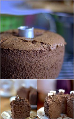 gluten-free choc chiffon cake