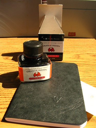 "J. Herbin ""Orange Indien"" + Clairefontaine cahier"