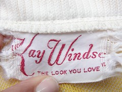 Vintage 1960s Kay Windsor Day Dress Clothing Tag at Twirl Vintage Co.