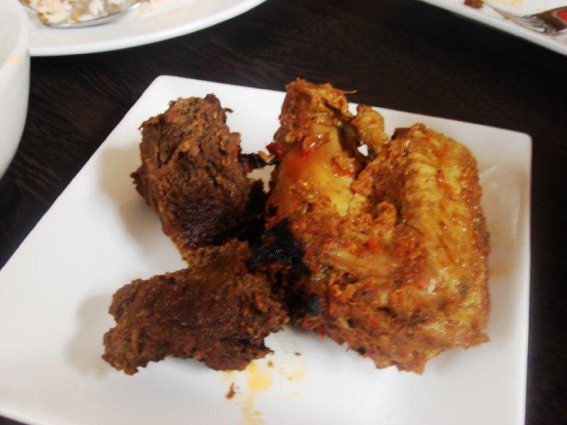 daging rendang n ayam