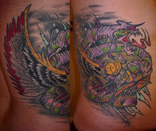 Prince Skull Snake Reaper Tattoo