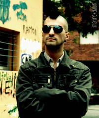 Taxi Driver Day (la franchu) Tags: film movie uruguay punk taxi crete mohawk travis driver travisbickle taxidriver pelicula montevideo lunettes lentes punky mauro giordano robertdeniro cresta desdelossatelites lafranchu