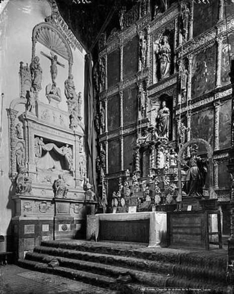 Sepulcro de Fray Francisco Ruiz en el Convento de San Juan de la Penitencia hacia 1880. Fotografía de Levy