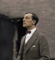 Buster Keaton (SilverRainbow87) Tags: photoshop hollywood actor silentfilm colorization busterkeaton silentcomedy