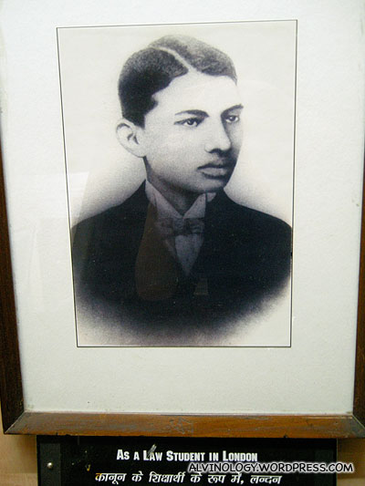 Picture of Ghandi when he was a young law student in Britain