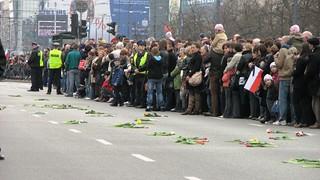 Street of Warsaw, 11th April 2010