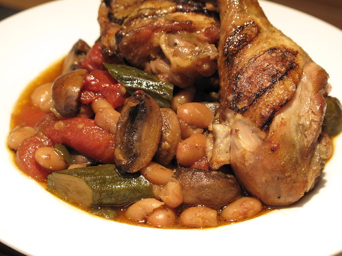 Braised Chicken with White Beans