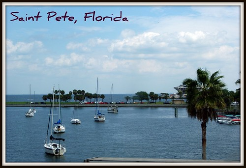 water clouds pier florida yacht palmtrees fl yachts saintpetersburg stpete greetingcard picnik aquatics