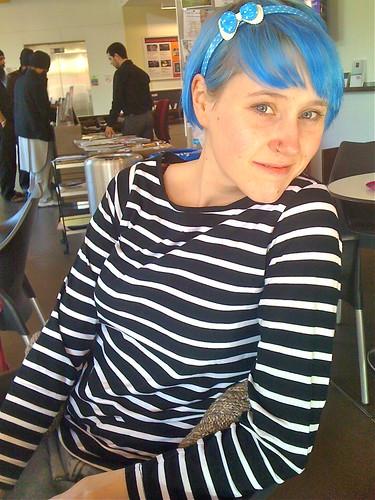 Kell Blue Hair At Quad - 2