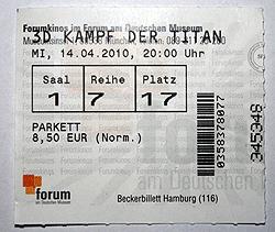 Kampf der Titanen - Kinokarte