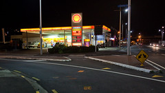 Shell Service Station on Beach Road, Auckland (russellstreet) Tags: newzealand night auckland nzl beachroad aucklandregion aucklandcbd