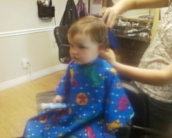 haves 1st hair cut