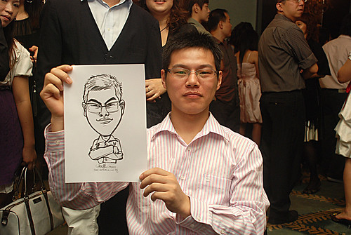 caricature live sketching for Panasonic Factory Solutions D&D -6