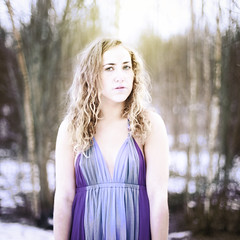 Fade in time (NorwayNatasha) Tags: white girl norway forest dress skin norwegian fade mornings yellowlight 20years norwaynatasha iwanttomakeaset