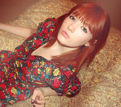 (suzy rowe) Tags: red portrait music game self canon hair rebel ginger patterns tag xsi lexibear