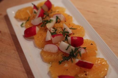 orange-radish salad