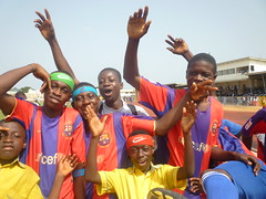 "Jubilation after a victory at the El-Wak Sports stadium in Accra • <a style=""font-size:0.8em;"" href=""http://www.flickr.com/photos/48668870@N02/4547517319/"" target=""_blank"">View on Flickr</a>"