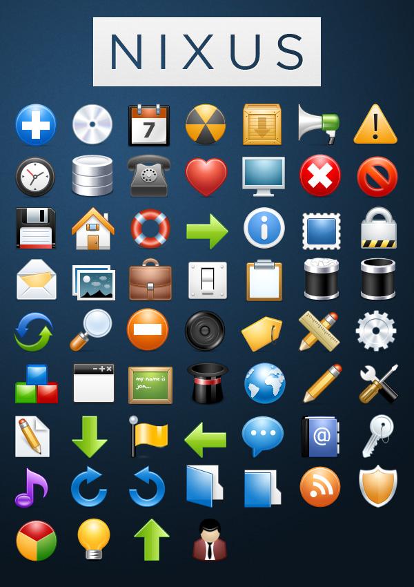 Iconos NIXUS: 60 hermosos iconos premium