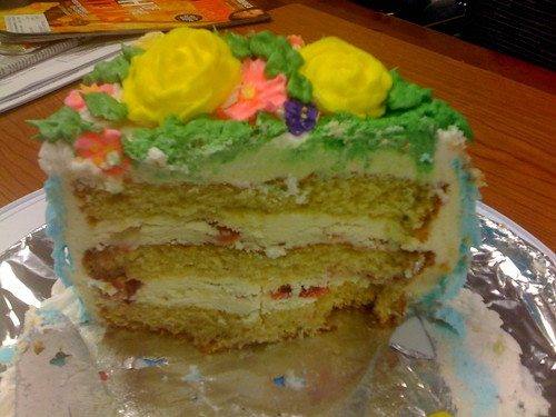 Inside the cake