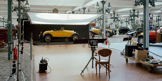 The backstage for Divina Bugatti at Museé National del lAutomobile in Mulhouse, Alsace. Light position has been changed, not to relveal some of the photographers most personal and professional secrets.