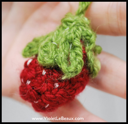 No Knit Strawberries Tutorial