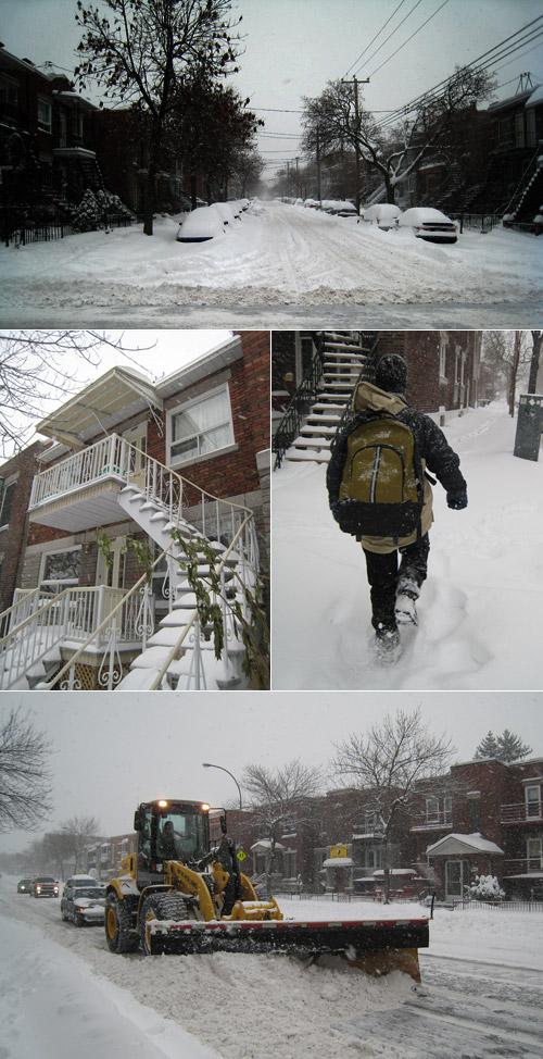 la tempête de neige à Montréal