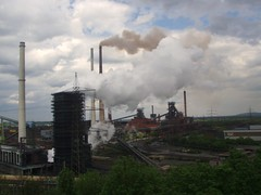 P5010062 (Jonathan Riverwalker) Tags: industry clouds industrial smoke steam smokestacks pollution rhine ruhrgebiet schornstein exhaust stacks emission halde duisberg alsumer alsumerberg